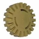 Karbowane koło gumowe, elastyczna tarcza (krążek) do usuwania kleju z trzpieniem