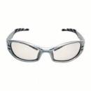Okulary FUEL kolor stalowy, niebieska soczewka lustrzana I/O + futerał z mikrowłókien (71502-00001M)