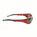 Okulary FUEL kolor tytanowy, czerwona soczewka lustrzana + futerał z mikrowłókien (71502-00003M)
