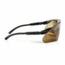 Okulary MAXIM czarne regulowane zauszniki + brązowa soczewka DX (13226-00000M)