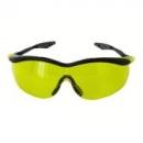Okulary QX3000 czarne, płaskie zauszniki, żółta soczewka DX (04-1023-0246M)