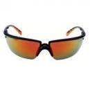 Okulary SOLUS czarne / pomarańczowe, czerwona lustrzana soczewka + futerał z mikrowłókien (71505-00006M)