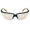 Okulary SOLUS czarne / pomarańczowe, lustrzana soczewka I/O + futerał z mikrowłókien (71505-00005M)