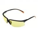 Okulary SOLUS czarne / pomarańczowe, żółta soczewka AS-AF + futerał z mikrowłókien (71505-00004M)