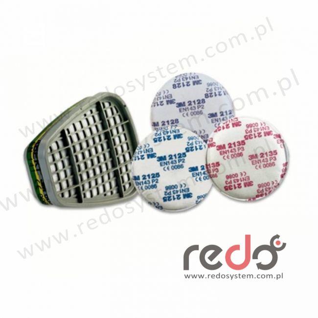 3M™ Filtr przeciwpyłowy 2128 przeciw cząstkom stałym i ciekłym oraz parom organicznym i gazom kwaśnym P2 10 x NDS