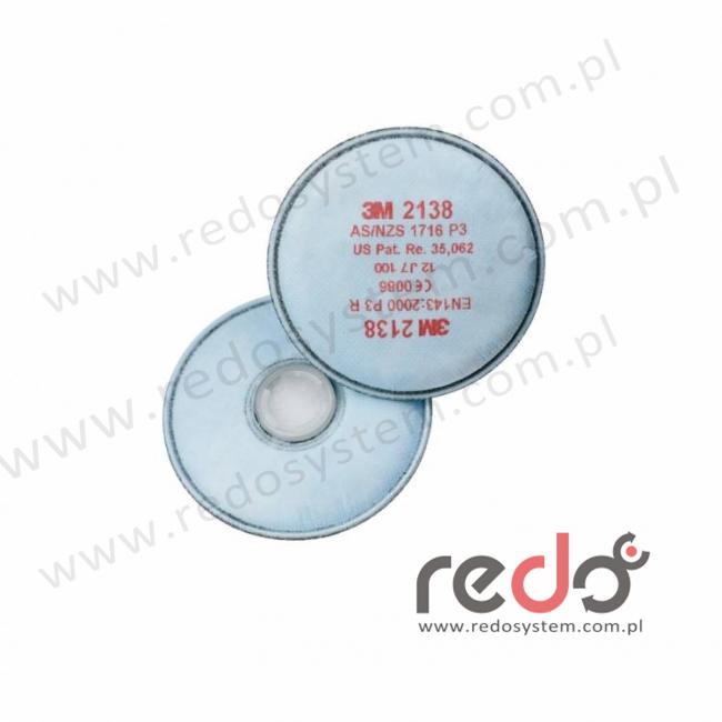 3M™ Filtr przeciwpyłowy 2138 przeciw cząstkom stałym i ciekłym oraz parom organicznym i gazom kwaśnym P3 10 x NDS