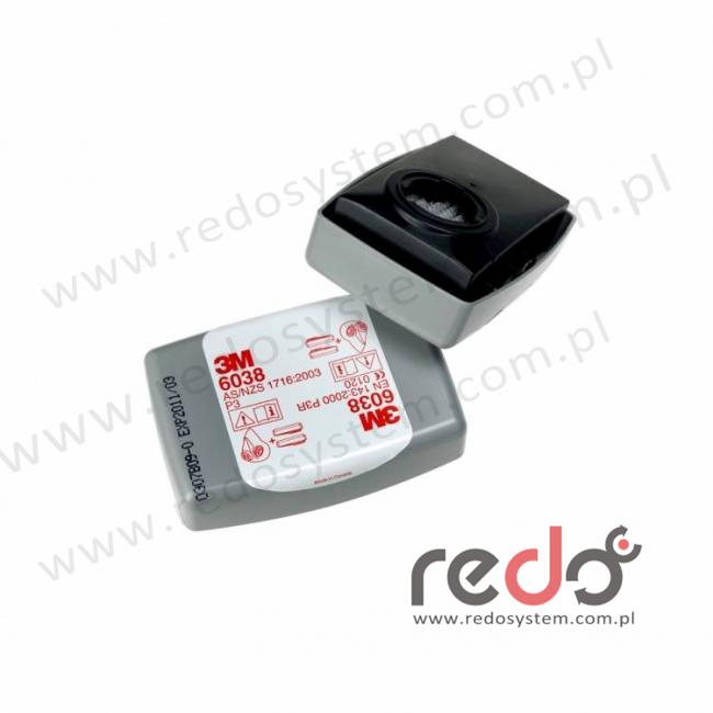 3M™ Filtr przeciwpyłowy 6038 przeciw parom organicznym i gazom kwaśnym P3 10xNDS (6038)