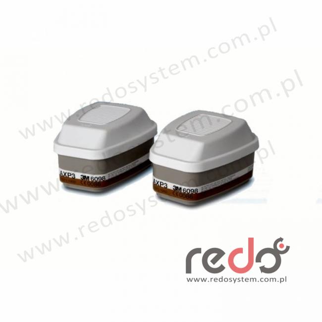 3M™ Filtropochłaniacz 6098 AXP3 przeciw pyłom i parom organicznym o temperaturze wrzenia poniżej 65°C (6098)