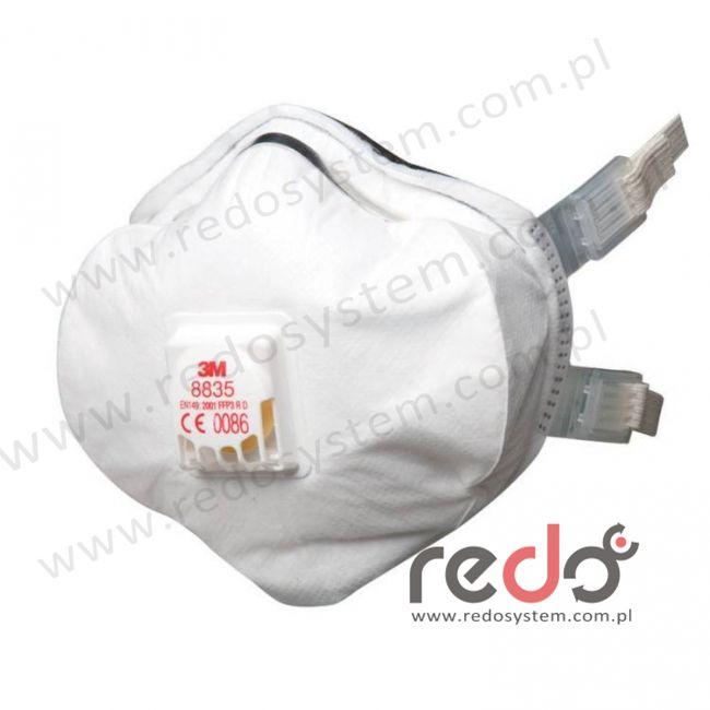 Półmaska filtrująca 3M™ 8835, premium z zaworem wydechowym klasa FFP3 50xNDS (8835)