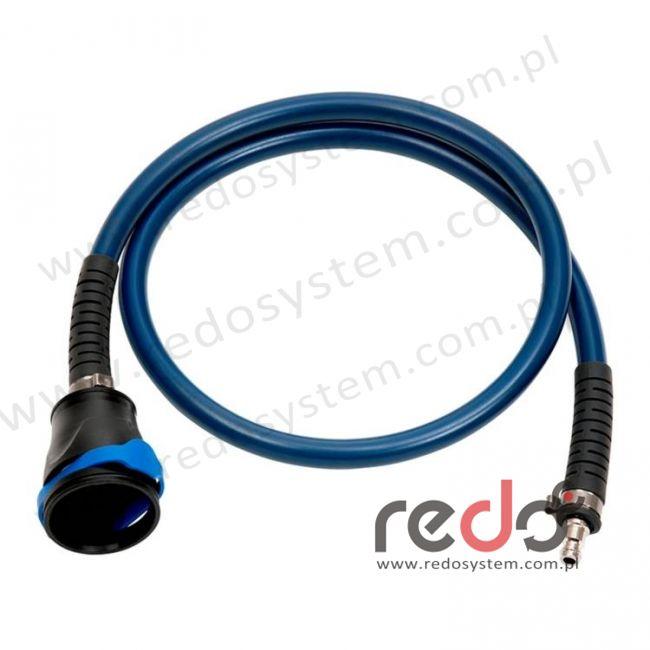 Wąż oddechowy niebieski z nyplem i szybkozłączem QRS (853064)
