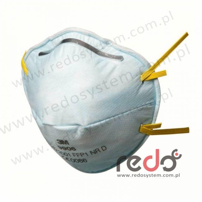 Półmaska filtrująca 3M™ 9906, specjalistyczna bez zaworu wydechowego klasa FFP1 4xNDS  (pyły, fluowodór) (9906)