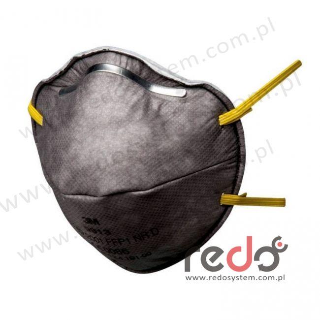 Półmaska filtrująca 3M™ 9913, specjalistyczna bez zaworu wydechowego klasa FFP1 4xNDS  (pyły, pary organiczne) (9913)