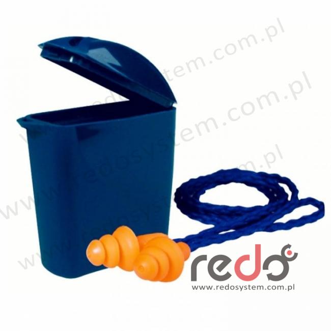 Wkładki przeciwhałasowe 3M™ 1271 wstępnie formowane ze sznurkiem w pojemnku (SNR 25 dB) (1271)