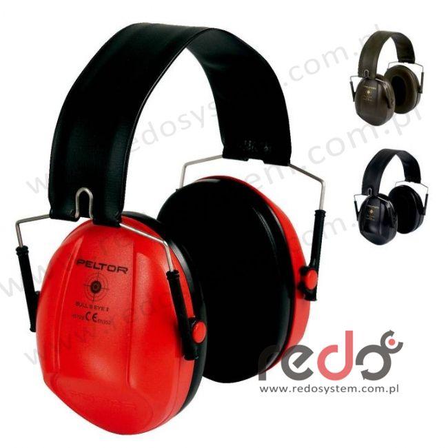 Nauszniki przeciwhałasowe 3M™ BULL\'s EYE I składane, czerwone  (SNR 27 dB)