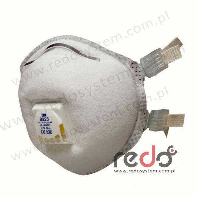 Półmaska filtrująca 3M™ 9925, spawalnicza z zaworem wydechowym klasa FFP2 10xNDS (9925)