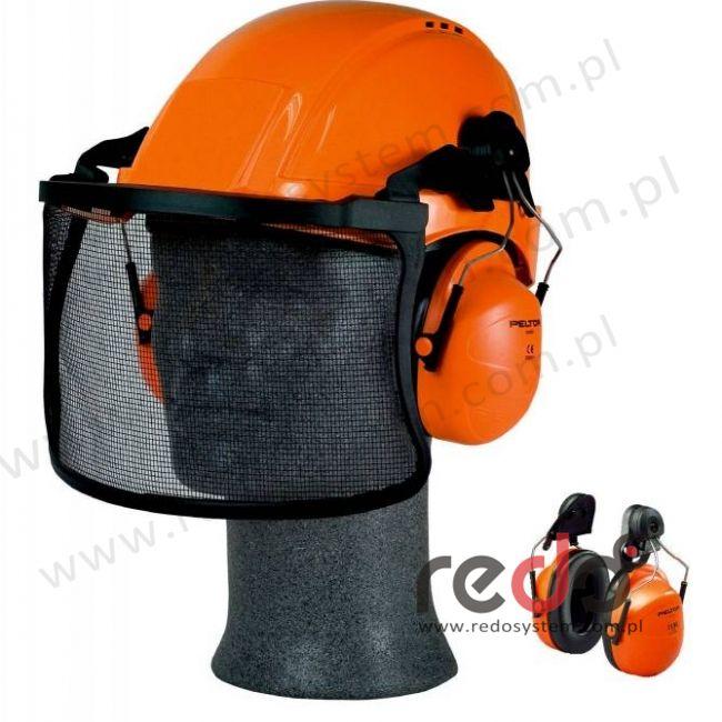 Nauszniki przeciwhałasowe 3M™ H31 CE wersja nahełmowa, pomarańczowe do Peltor G3000  (SNR 28 dB)