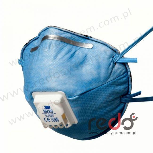 Półmaska filtrująca 3M™ 9926, specjalistyczna z zaworem wydechowym klasa FFP2 12 x NDS