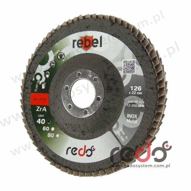 Dysk lamelkowy REBEL 125 stożkowy P80