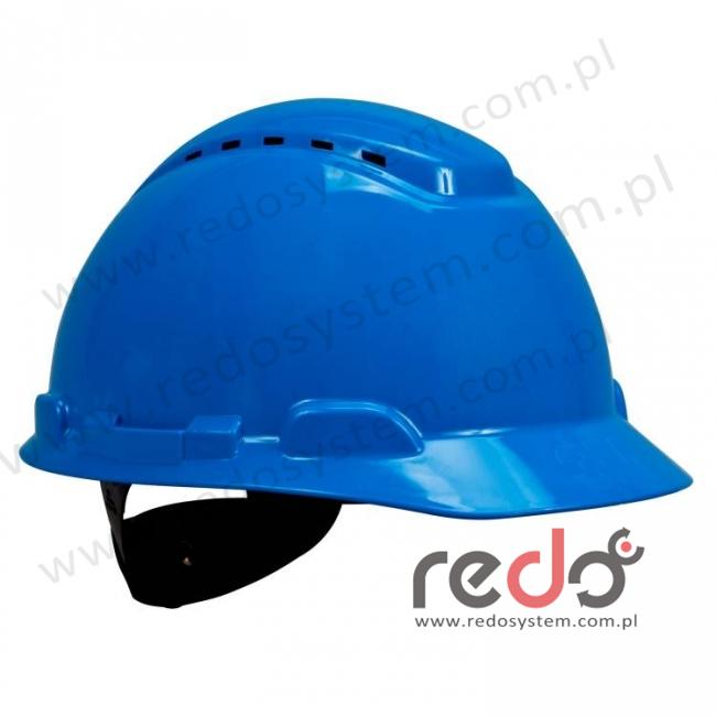 Hełm ochronny H-700 niebieski z wentylacją, standardowa więźba (H-700C-BB)