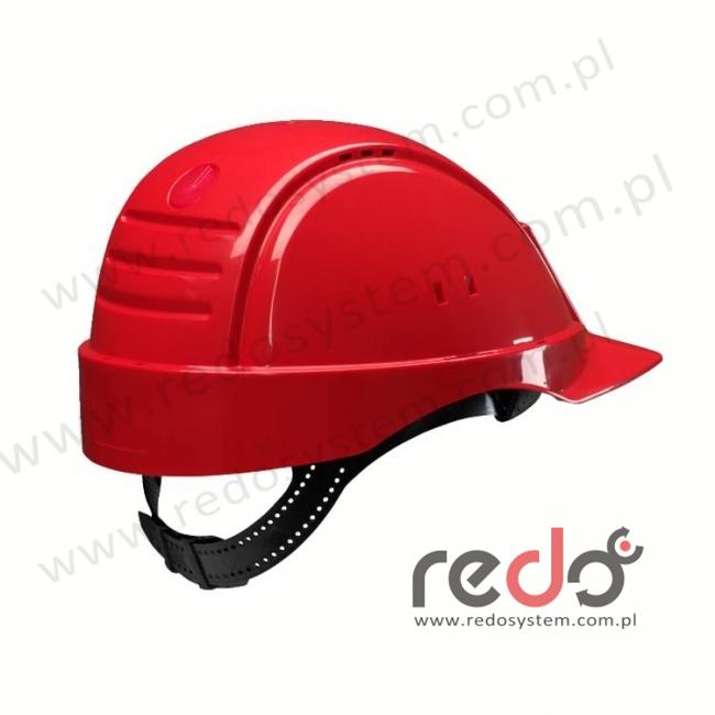 Hełm ochronny Solaris G2000 czerwony CE (G2000DUV-RD)