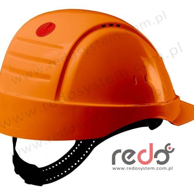 Hełm ochronny Solaris G2000 pomarańczowy CE (G2000NUV-OR)