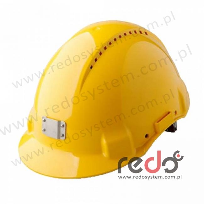Hełm ochronny Solaris G3000 z uchwytem na lampę, żółty