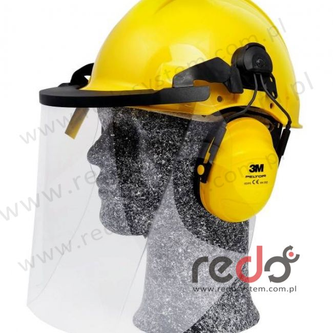 Zestaw hełmowy 1000V, G3001 / H31 / V4KK, dielektryczny, żółty