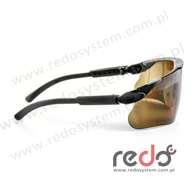 Okulary MAXIM czarne regulowane zauszniki + brązowa soczewka DX