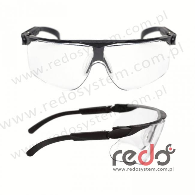Okulary MAXIM niebieskie regulowane zauszniki + bezbarwna soczewka DX