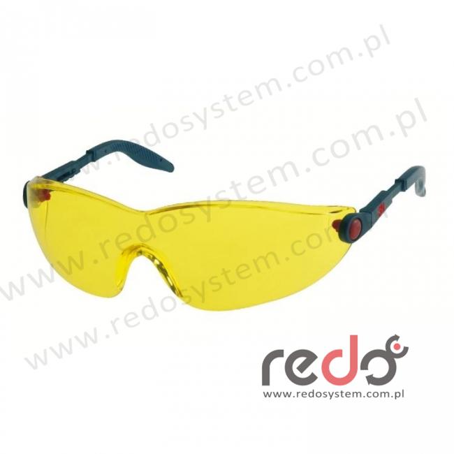 Okulary ochronne 2742 żółte AS-AF
