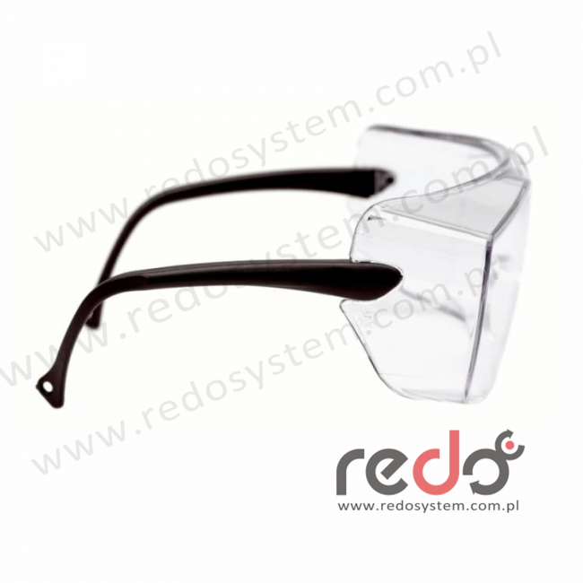 Okulary OX1000 soczewka bezbarwna bez powłoki, z czarnymi zausznikami