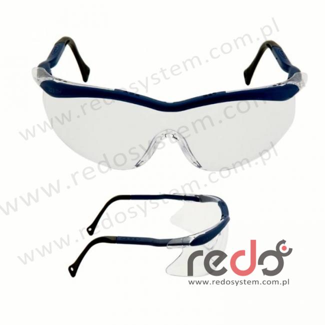 Okulary QX2000 niebieskie, obracane końcówki, przezroczysta soczewka DX