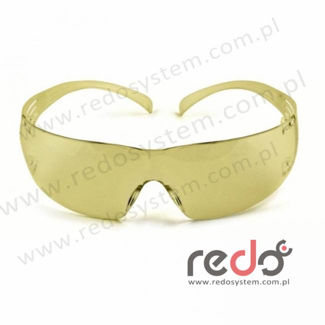 Okulary ochronne SecureFit 203 żółta soczewka AS-AF