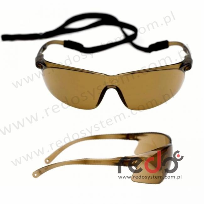 Okulary TORA brązowe AS-AF ze sznurkiem (71501-00002M)