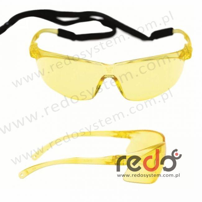 Okulary TORA żółte AS-AF ze sznurkiem