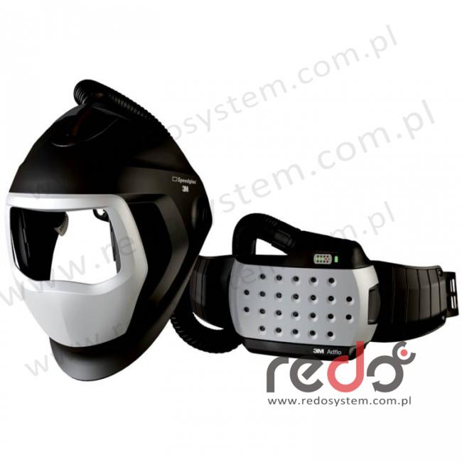 Przyłbica spawalnicza 3M™ Speedglas 9100 Air bez filtra spawalniczego z systemem Adflo  (z torbą)