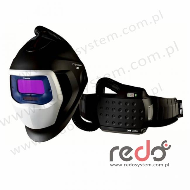 Przyłbica spawalnicza 3M™ Speedglas 9100 Air z filtrem 9100V i z systemem Adflo  (z torbą)