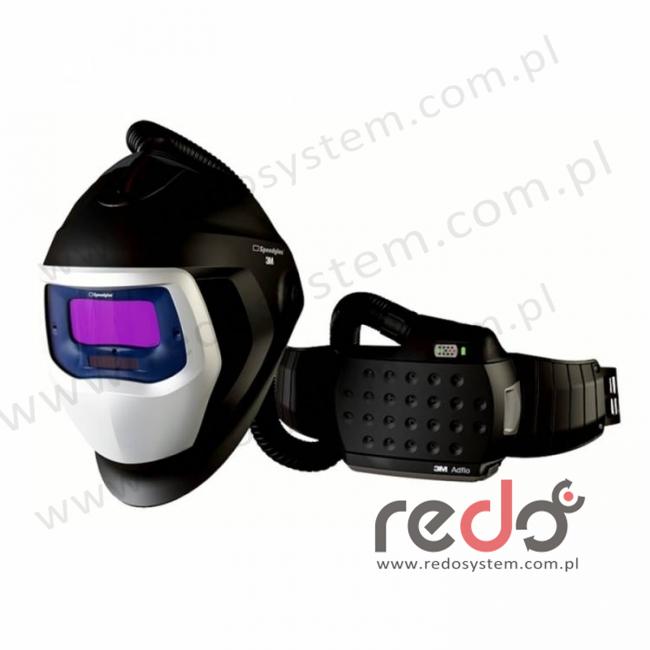 Przyłbica spawalnicza 3M™ Speedglas 9100 Air z filtrem 9100X i z systemem Adflo  (z torbą)