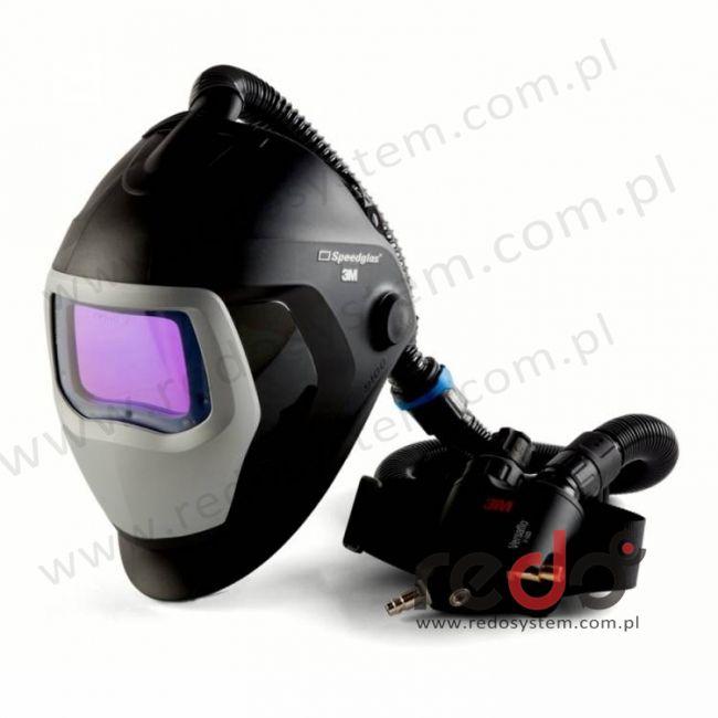 Przyłbica spawalnicza 3M™ Speedglas 9100 Air z filtrem 9100XX oraz aparatem wężowym sprężonego powietrza Versaflo V-500E