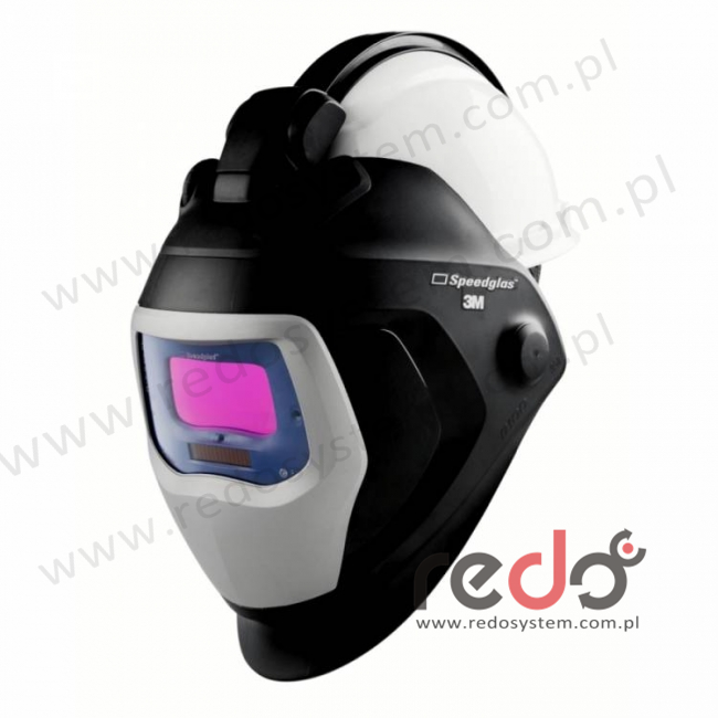 Przyłbica spawalnicza 3M™ Speedglas 9100-QR filtr 9100V z hełmem ochronnym H-701