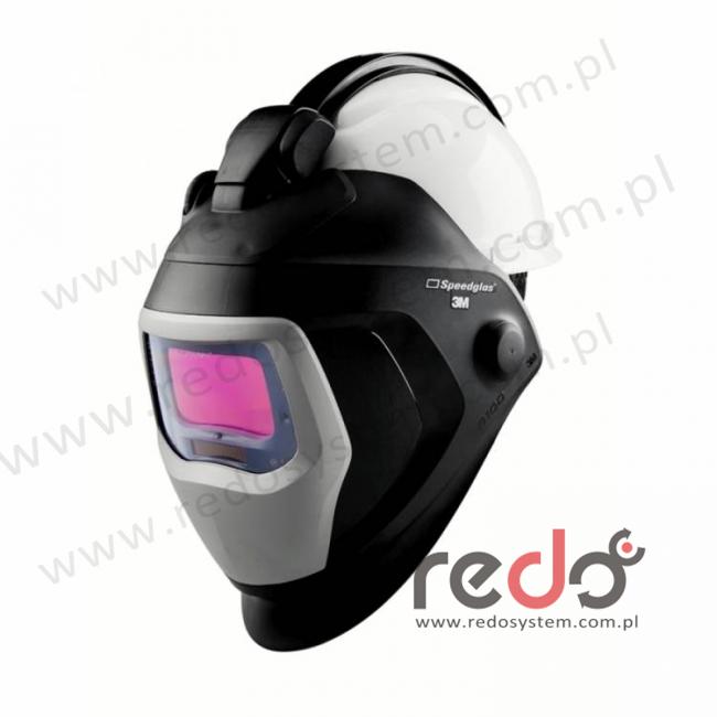Przyłbica spawalnicza 3M™ Speedglas 9100-QR filtr 9100X z hełmem ochronnym H-701