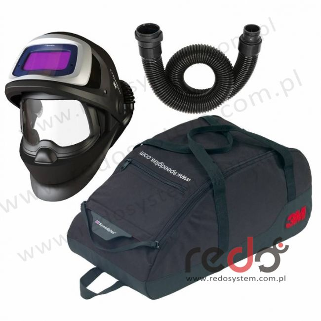 Przyłbica spawalnicza 3M™ Speedglas 9100V FX Air z wężem oddechowym  (834016) i torbą, filtr 9100XX, zaciemnienie 5/8/9-15