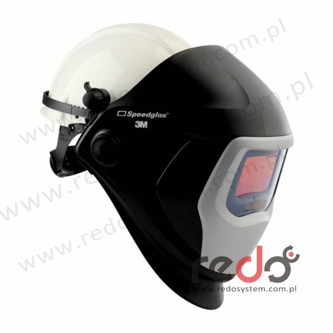 Przyłbica spawalnicza 3M™ Speedglas serii 9100 z hełmem ochronnym G3001 z bocznymi szybkami SW, filtr 9100X, zaciemnienie 5/8/9-13 (583815)
