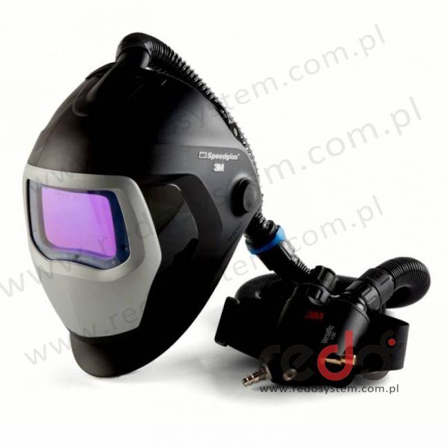 Przylbica spawalnicza 3M™ Speedglas 9100 Air z filtrem 9100 XXi oraz aparatem wężowym sprężonego powietrza Versaflo V-500E  (z torbą) (568526)