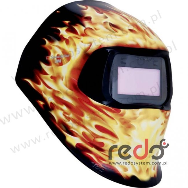 Przyłbica spawalnicza 3M™ Speedglas 100 Płomień, filtr 100V (751220)