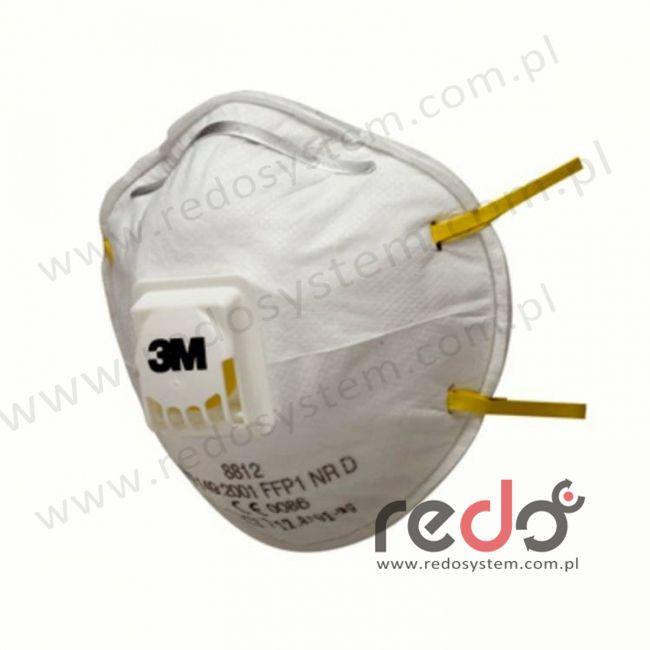 Półmaska filtrująca 3M™ 8812, kopułkowa z zaworem wydechowym klasa FFP1 4 x NDS