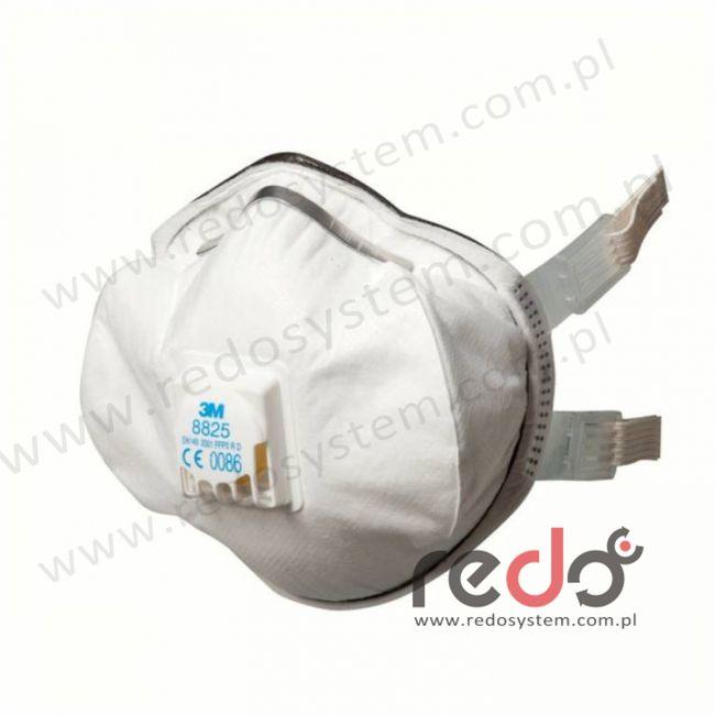 Półmaska filtrująca 3M™ 8825, premium z zaworem wydechowym klasa FFP2 12xNDS (8825)