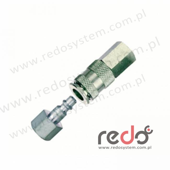 Złącze 3M™ CEJN 42 - gniazdo i wtyczka, gwint wewnętrzny 3/8 BSP  (530-12-81P3)