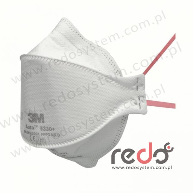 Półmaska filtrująca 3M™ 9330+ Aura, składana bez zaworu wydechowego klasa FFP3 50xNDS (9330+)