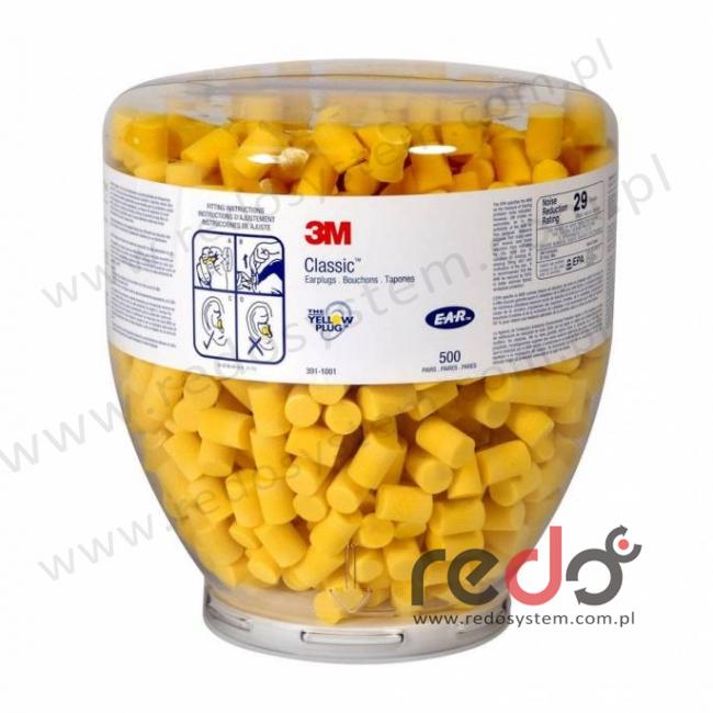 Wkładki przeciwhałasowe 3M™ CLASSIC - wkład Top Up, w kartonie uzupełniającym  1000 szt. (SNR 28 dB) (PD-01-009)